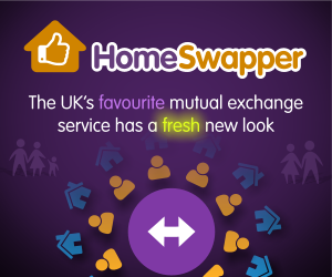 Homeswapper advertisement graphic, which links to www.homeswapper.co.uk