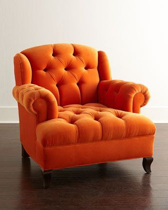 image of an orange chair