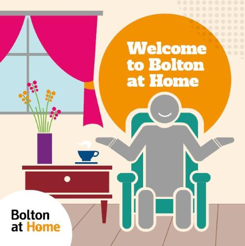 Decorative image reading 'Welcome to Bolton at Home'.