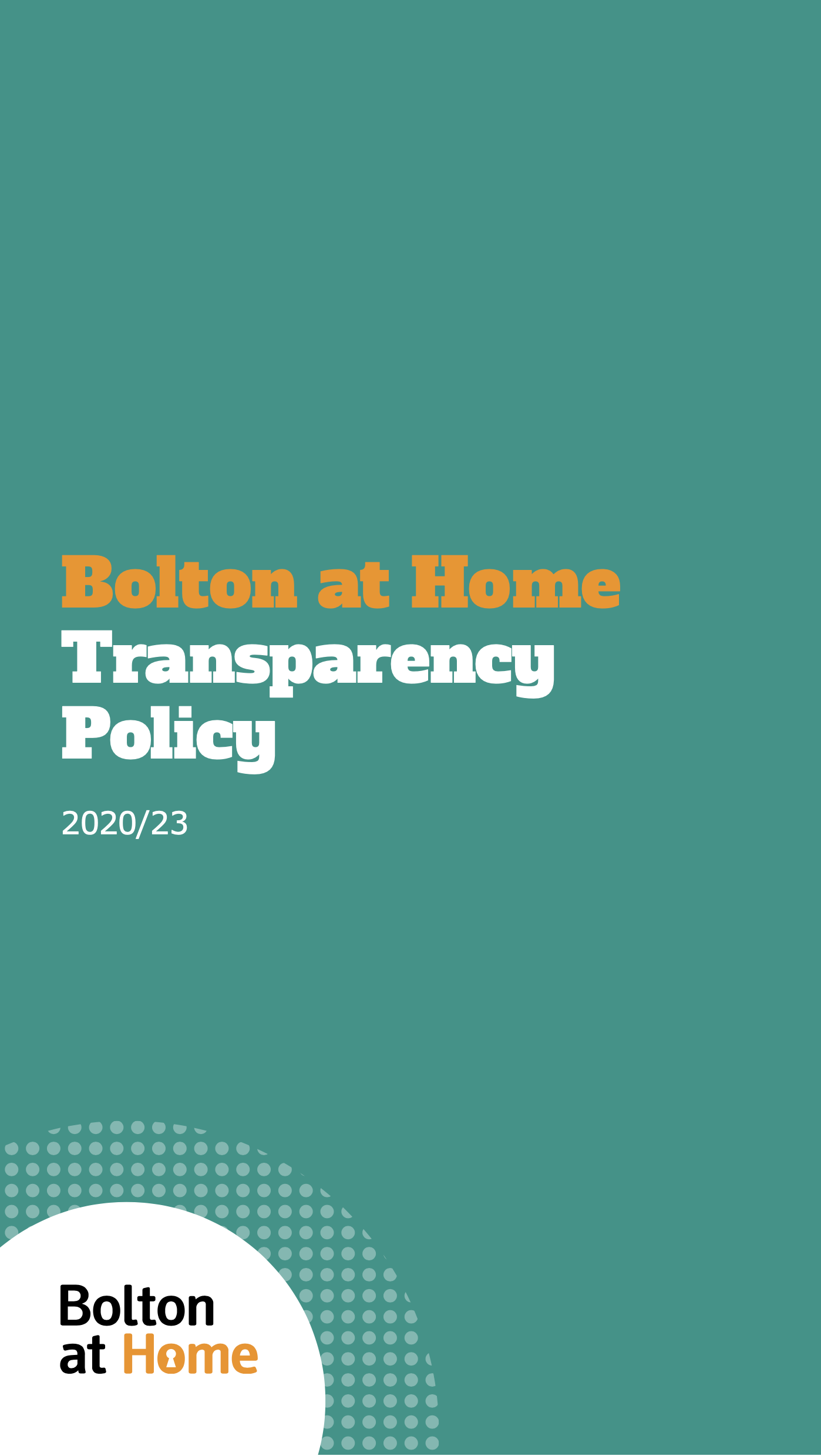 Decorative thumbnail of our Transparency Policy cover