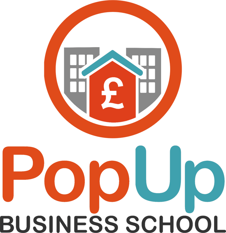 Decorative logo for the PopUp Business School Customer Training Course